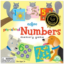 Eeboo Preschool Numbers Memory Game, toy store, kid store, gift, imaginative, fun, eco-friendly, colourful, measuring tape, eco-friendly toy, vancouver, bc, downtown vancouver, online store, kids online store, safe, educational toys, preschool games, BC