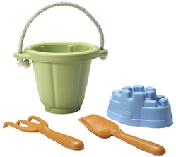 Green Toys Sand Play Set, sand box, play, eco-friendly, non-toxic, my little green shop, vancouver, bc, no BPA, no phthlates, no lead paint, safe, shovel, pail, rake, sand castle mold, beach toys, vancouver, downtown vancouver, canada, online, kids store