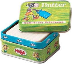 Haba Butter, my little green shop, vancouver, bc, canada, safe, play butter, colourful, kids store, online store, non-toxic, wooden toys, play butter, tin case, play food, kitchen toys, downtown Vancouver, toy store, role play, HABA, HABA butter, toys