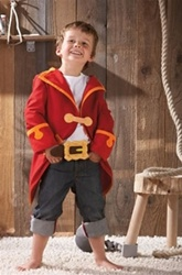 Haba Captain Charlie Jacket and Belt, my little green shop, vancouver, bc, canada, safe, pirate costume, kids store, online store, non-toxic, halloween costume, toy food, kids, downtown Vancouver, toy store, HABA, kids costumes, boys, pirate jacket, HABA
