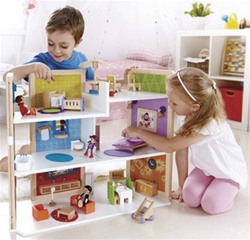 Hape DIY Dream House, wooden, my little green shop, vancouver, bc, canada, safe, eco-friendly, doll houses, baby toys, kids store, online store, non-toxic, downtown Vancouver, Hape, bus, online, wooden doll house, online, quality, wooden toys