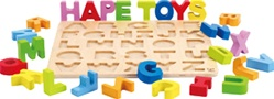 Hape Alphabet Puzzle, toy store, kid store, gift,  toddler, imaginative, fun, eco-friendly, canada, vancouver, bc, downtown vancouver, online, kids online store, safe, educational, preschoolers, alphabet puzzle, educo, wooden, wood, quality,