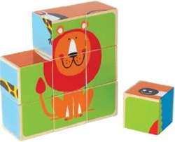 Hape Animal Block Puzzles, my little green shop, gift, unique, fun, eco-friendly, sustainable, vancouver, bc, downtown vancouver, online, online store, safe, educational, puzzles, kids, toys, hape, toy store, blocks, zoo, farm, block puzzle, animal