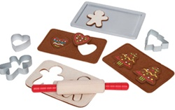 Hape Gingerbread Baking Set, toy store, kid store, gift,  toddler, imaginative, fun, eco-friendly, sustainable, vancouver, bc, downtown vancouver, online, kids online store, safe, educational, preschoolers, play baking set, role play, baking set, play
