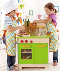 Hape Gourmet Kitchen, toy store, kid store, gift,  toddler, imaginative, fun, eco-friendly, sustainable, eco-friendly, vancouver, bc, downtown vancouver, online, kids online store, safe, educational, Hape, green, white, play kitchen, canada, role play
