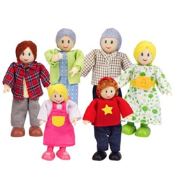 Hape Happy Family Caucasian Doll Family, toy store, kids store, gift,  toddler, imaginative, fun, eco-friendly, doll family, eco-friendly toy, vancouver, bc, downtown vancouver, online, kids online store, safe, toys, Hape, preschoolers, dollhouse, family