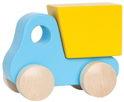 Hape Little Dump Truck, toy store, kid store, gift,  toddler, imaginative, fun, eco-friendly, wooden, vancouver, bc, downtown vancouver, online, kids online store, safe, Educo, toddlers, gift, baby toy, shower gift, canada, baby boy, girl, wood, toy truck