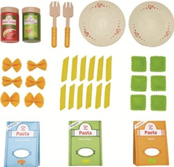 Hape Pasta Set, toy store, kid store, gift,  toddler, imaginative, fun, eco-friendly, canada, vancouver, bc, downtown vancouver, online, kids online store, safe, educational, preschoolers, play kitchen, role play, pasta set, play food, hape, role play
