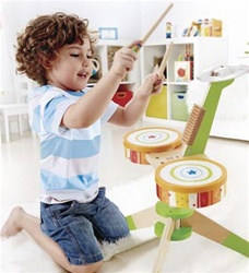 Hape Rock & Rhyth, kid store, drums, cymbals, fun, eco-friendly, musical instruments, vancouver, bc, downtown vancouver, online, kids online store, safe, toddlers, hape, music toy, rhythm, wooden drum, wood, music instrument, kids, preschooler,Hape