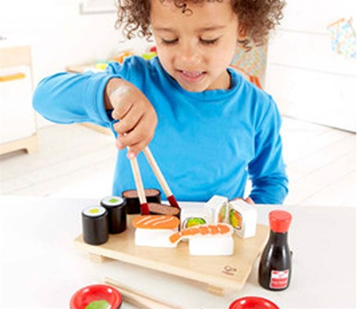 Hape sushi set toy store kid store gift toddler for Kids kitchen set canada