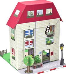 Krooom Murielle City House Play Set, toy store, play sets, gift, kids, imaginative, fun, eco-friendly, vancouver, bc, downtown vancouver, online,kids online store, safe, non-toxic, play sets, role play, kids,boys, girls, play house, cardboard,toys, Krooom