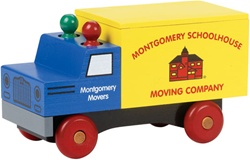 Maple Landmark Classic Moving Truck, wooden toys, my little green shop, vancouver, bc, canada, safe, gift, boy, classic wooden toys, colourful, kids store, online store, non-toxic, downtown Vancouver, Maple Landmark, moving truck, made in USA, online