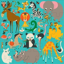 Mudpuppy Jumbo Floor Puzzles 24 pc s, Vancouver, my little green shop, non-toxic, BC, Canada, downtown vancouver, floor puzzle, 18 months+, kids store, online store, baby store, downtown baby store, educational toy, eco-friendly, mudpuppy, toddler, jumbo