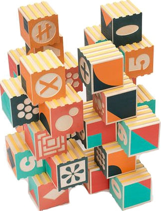 Uncle Goose Groovie Math Patterning Block Set