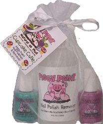 Piggy Paint Gift Sets , my little green shop, vancouver, bc, downtown vancouver, nail polish, safe, non-toxic, sleepovers. made in the USA, odourless, fun, kids, nail polish, manicure, pedicure, online store, kids store, baby store, online store, remover