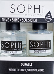 Piggy Paint,SOPHi Prime, Shine Seal System, my little green shop, vancouver, bc, downtown vancouver, nail polish, safe, non-toxic, eco-friendly. made in the USA, odourless, online store, adults polish, SOPHi, nail prime and shine